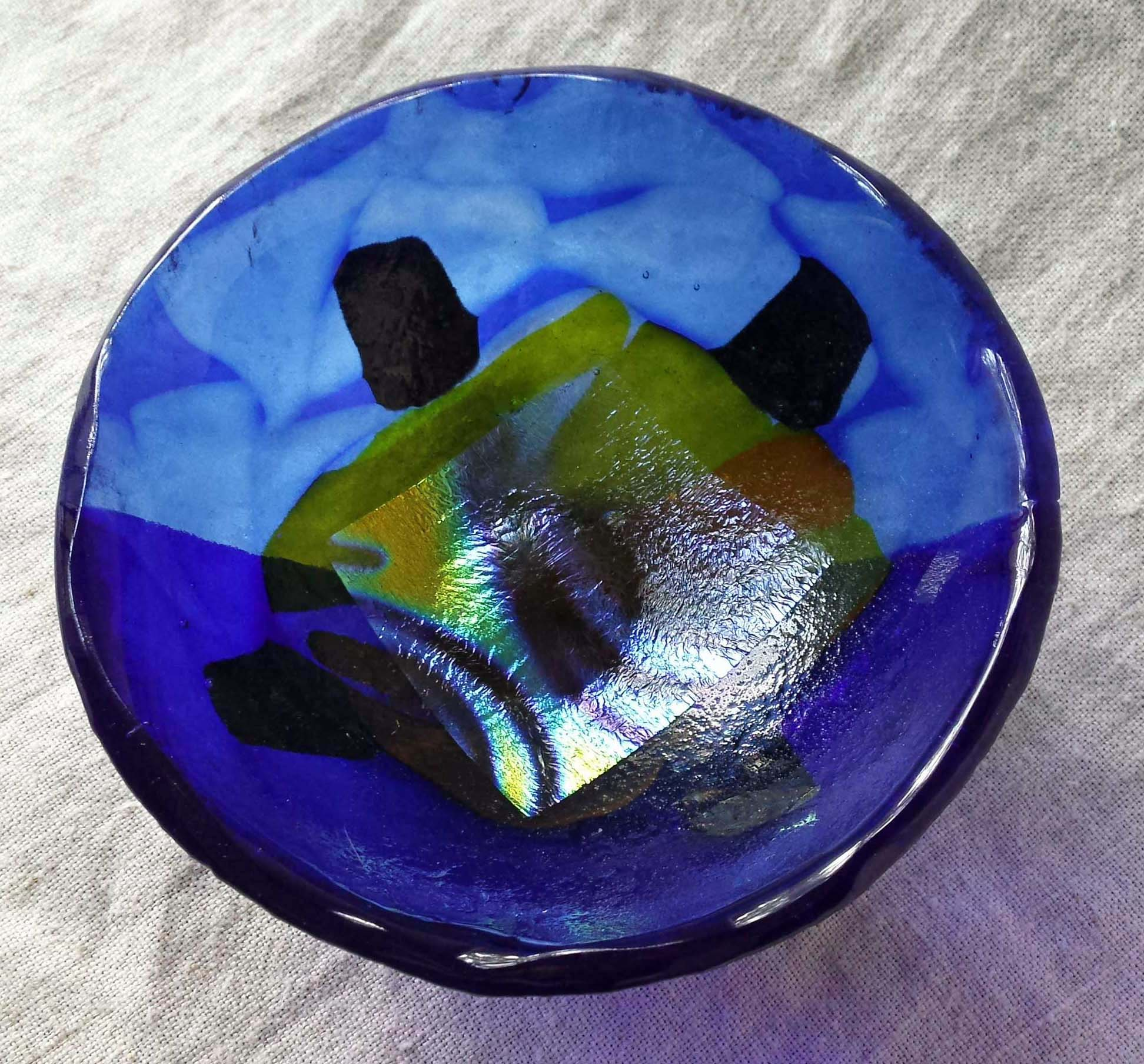 Blue Dichroic Bowl