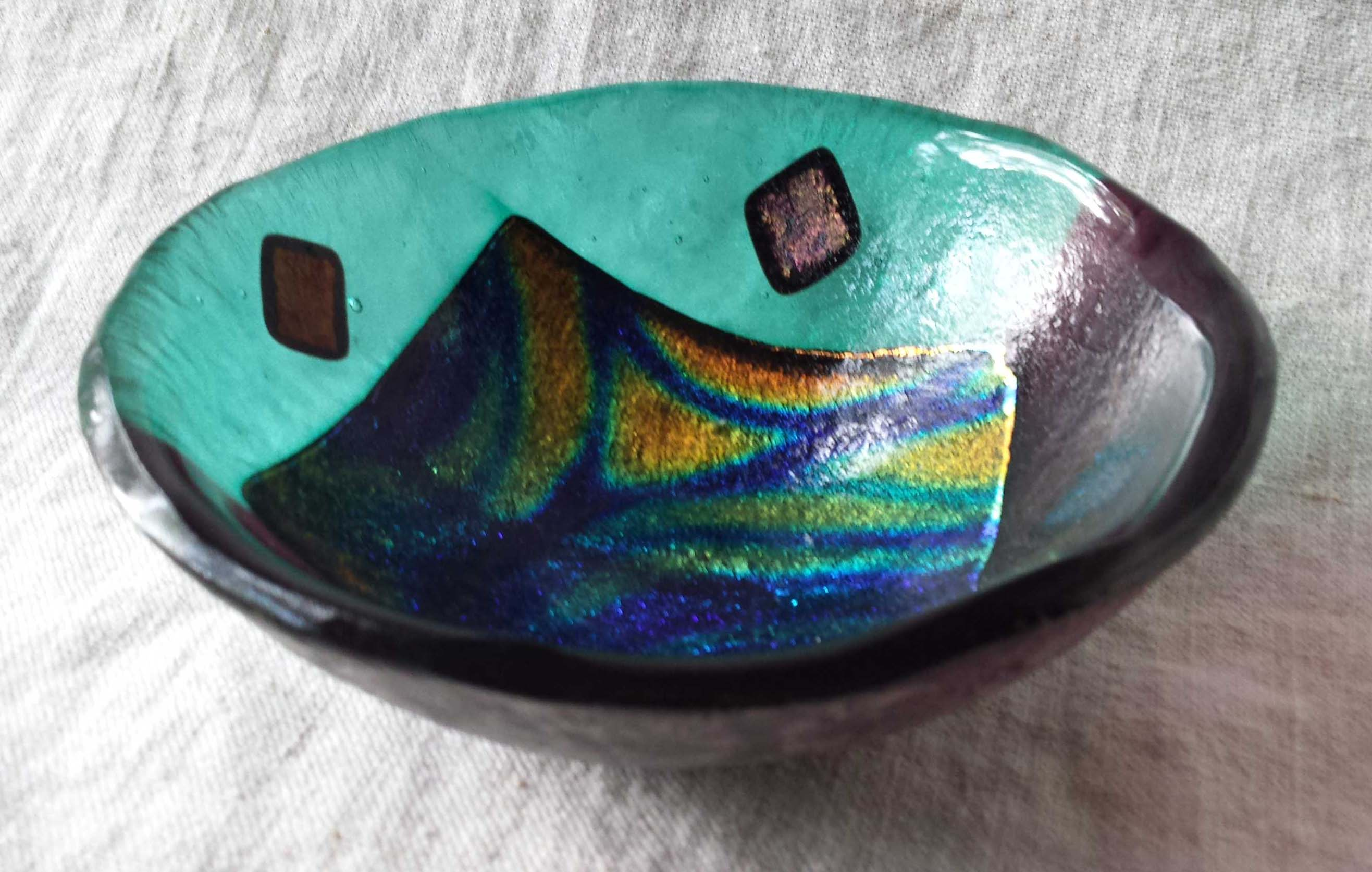 Green Dichroic Bowl